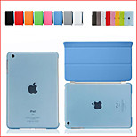 For iPad Mini Smart Cover Case Front leather Cover+Transparent Back Cover