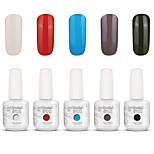 Gelpolish Nail Art Soak Off UV Nail Gel Polish Color Gel Manicure Kit 5 Colors Set S122
