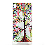 Colored Trees Pattern Painted Transparent Frosted PC Material Phone Case for Sony Z3