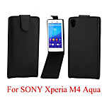 Protective PU Leather Magnetic Vertical Flip Case for Sony Xperia M4 Aqua
