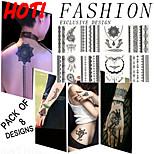 Tatuaggi adesivi - Altro Da donna/Da uomo/Adulto/Teen - 1000 - Modello - di Plastica - 21*14.8cm - Bianco - Non Toxic/Fantasia/Waterproof