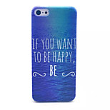 Happy Sea Pattern Transparent Frosted PC Back Cover  For iPhone 5C