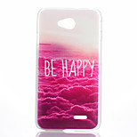 Red Cloud Pattern Transparent Frosted PC Material Phone Case for LG L70