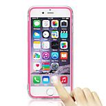 flip transparente turno libre toque TPU caja del teléfono de triple para el iphone 6s / 6 más (colores surtidos)