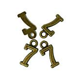 Beadia 100PCS Antique Bronze Alloy Charms 7x15mm Number 7 Pendants DIY Accessories