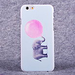 Balloon Elephant Pattern Hard Case with Screen Protector Flim for iPhone 6