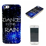 Dance In The Rain Painting Soft TPU Falling Proof Case for iPhone 5/5S