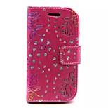 gyémánt rózsa minták pénztárca kártya pu bőr teljes test esetében Samsung Galaxy hírnevet s6810 (vegyes színes)