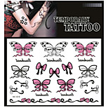 Tattoo Stickers Non Toxic/Pattern/Lower Back/Waterproof Animal Series Adult Black Paper 1 17*16 Butterfly
