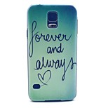 Forever and Always Pattern Hard Case Cover for Samsung Galaxy S5 I9600