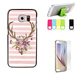 Lovely Elk Design Hard Case with Screen Protector and Stand Holder for Samsung Galaxy S6