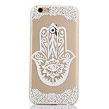 Finger Flower Pattern Hard Back Case for iPhone 6