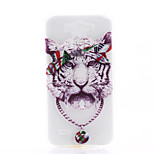 White Tiger Pattern TPU Material Soft Phone Case for LG G3 MINI