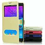 High-Grade Fashion Mobile Phone Holster PU Leather Full Body Cases for Samsung Galaxy NOTE 4 (Assorted Colors)