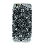 Black Flower Pattern TPU Phone Case For iPhone 6