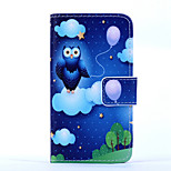 Magic Spider®Cloud and Owl Pattern PU Full Body Case Stand with Screen Protector for Sony Z3 MINI