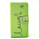 Laugh Star Pattern PU Leather Cover with Stand and Card Slot for Sony Xpeira Z4 Compact/Z4 Mini