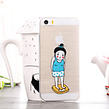Obesity Girls Pattern TPU Soft Case for iPhone 5/5S