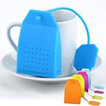 Tea Bag Shaped Silicone Tea Strainer Herbal Spice Infuser Filter Diffuser Kitchen (Random Color)