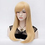 The European and American Wind Pale Gold Closed Within 60 cm Hair End Face Long Straight Hair Wig