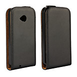 Vertical Flip Magnetic Button Genuine Leather Case for Moto E 2nd Gen XT1505