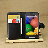 Litchi Around Open Bracket Leather Phone Wallet Card Suitable for Motorola moto E(Assorted Color)