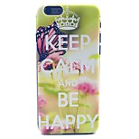 Keep Clam and Be Happy Butterfly Pattern Hard Case Cove for iPhone 6