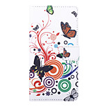 Butterly Love Flower Pattern PU Leather Full Body Case with Stand and Card Slot for Sony Xperia C4