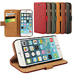 Elegant Retro Leather Grain PU Leather Case for iPhone 6 (Assorted Colors)