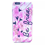 Pink Flower Geese Pattern PC Hard Case for iPhone 6 Plus