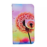 Dandelion Pattern PU Leather Phone Case For Samsung  Galaxy S6 edge
