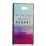 Magic Spider® Regret Matt Ultra Thin Hard Back Case Cover with Screen Protector for Sony M2