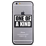 One Of A Kind Pattern Frame Back Cover for iPhone 6