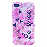 Birds Pattern Transparent Frosted PC Back Cover For  iPhone 4/4S