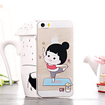Cartoon Fitness Girl Pattern TPU Soft Case for iPhone 5/5S