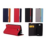Hit Color No Buckle PU Leather Full Body Case for LG L90 D405 (Assorted Color)