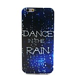 COCO FUN® Walking In The Rain Pattern Soft TPU IMD Back Case Cover for iPhone 6