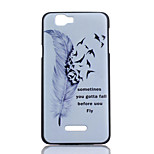 Feather Pattern PC Material Phone Case for Wiko RAINBOW