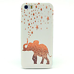 Glittering  Pattern Transparent Frosted PC Back Cover  For iPhone 5/5S