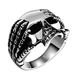 Skeleton Exaggerated Personality Rock Titanium Steel Stainless Steel Men's Ring