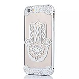 Silver Edge Metal Frame and Finger Pattern PC Backplane Can pull Combo Material Phone Case for iPhone 5/5S