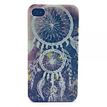 Campanula Pattern Transparent Frosted PC Back Cover For  iPhone 4/4S