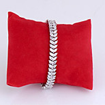 Women's Fashion Leaves Crystal Rhinestone Hand Chain Ring Bracelet