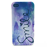 Smile Pattern Transparent Frosted PC Back Cover For  iPhone 4/4S