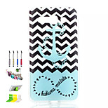 Anchors Pattern Painted Soft Phone Case And Dust Plug Stylus Pen Stand Combination for Alcatel C9
