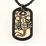 Vilam® Leather Scorpion Dog Tag Pendant Necklaces Daily/Sports 1pc
