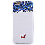 Red Fox Pattern Silk Pattern Skinning TPU Soft Phone Case for iPhone 6