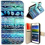 삼성 갤럭시 S5 i9600에 대한 카드 가방 전신 케이스와 고대의 도형 패턴