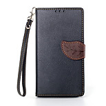 Deluxe Litchi Leaves Wallet Leather Flip Tpu Case For Sony Xperia Z1 L39H Wallet Handbag + Lanyard