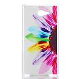Sunflower Pattern Transparent Frosted PC Material Phone Case for Sony Xperia M2